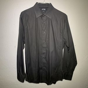 Apt. 9 Dark Gray Dress Shirt Mens